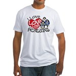 I Love Love More Penguins Fitted T-Shirt