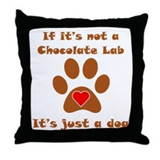 If Its Not A Chocolate Lab Throw Pillow