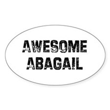 Awesome Abagail Oval Decal