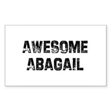 Awesome Abagail Rectangle Decal