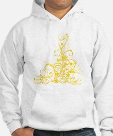yellow floral swirl 1 Hoodie