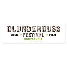 Portlandia Blunderbuss Festival Bumper Bumper Sticker