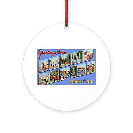 Grand Rapids Michigan Greetings Ornament (Round)