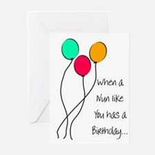 Nun Birthday Greeting Cards (Pk of 20)