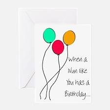 Nun Birthday Greeting Card