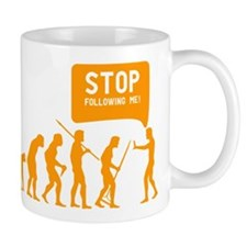 Evolution is following me Mug