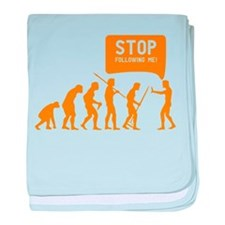 Evolution is following me baby blanket