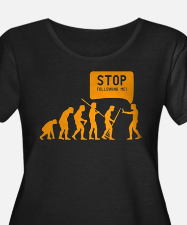 Evolution is following me Plus Size T-Shirt