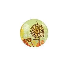Autumn Crysanthemum Mini Button
