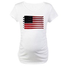 retro baseball bat American flag Shirt
