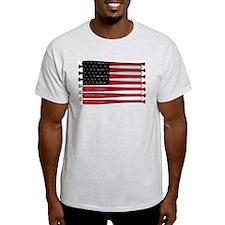 retro baseball bat American flag T-Shirt