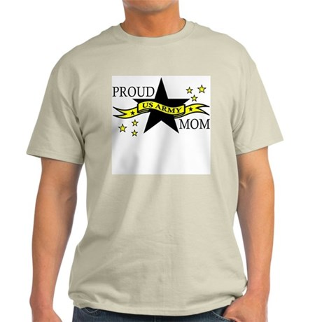 Proud Army Mom Hero Poem Ash Grey T-Shirt