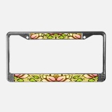 Water Lily Motif License Plate Frame