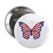"""Patriotic Butterfly 2.25"""" Button"""