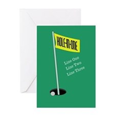 Golf Hole in One Greeting Card