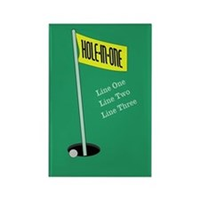 Golf Hole in One Rectangle Magnet