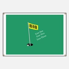 Golf Hole in One Banner