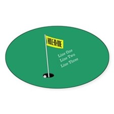 Golf Hole in One Decal