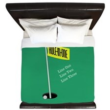 Golf Hole in One King Duvet