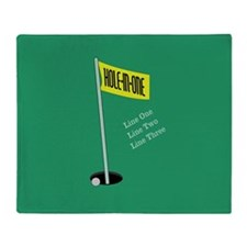 Golf Hole in One Throw Blanket