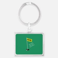 Golf Hole in One Landscape Keychain