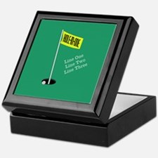 Golf Hole in One Keepsake Box