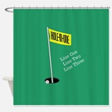 Golf Hole in One Shower Curtain