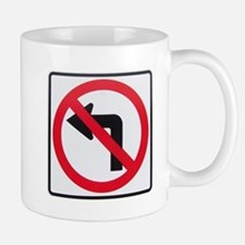 No Left Turn Small Small Mug