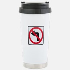 No Left Turn Travel Mug