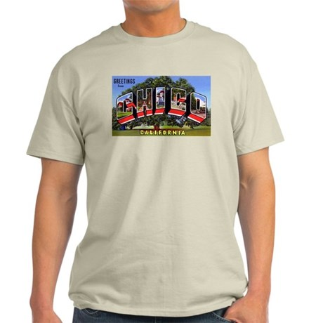 Chico California Greetings Ash Grey T-Shirt