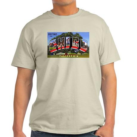 Chico California Greetings (Front) Ash Grey T-Shir