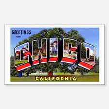 Chico California Greetings Rectangle Decal