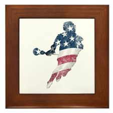 USA Lacrosse Framed Tile