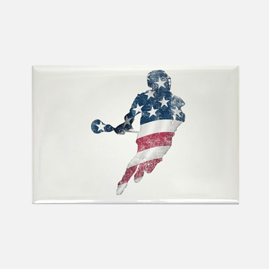 USA Lacrosse Rectangle Magnet