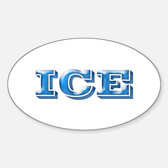 ICE Cold Smooth Oval Decal