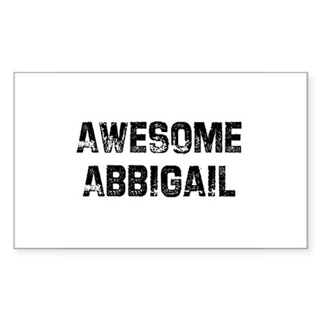 Awesome Abbigail Rectangle Sticker