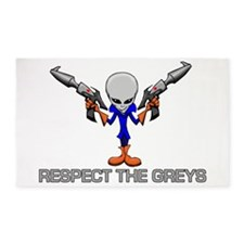 RESPECT THE GREYS 3'x5' Area Rug