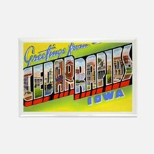 Cedar Rapids Iowa Greetings Rectangle Magnet
