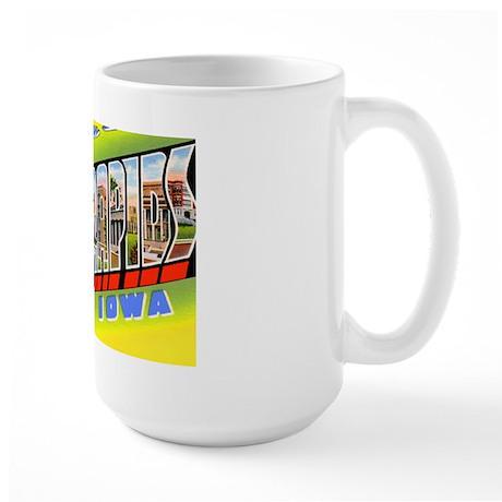 Cedar Rapids Iowa Greetings Large Mug