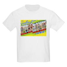 Cedar Rapids Iowa Greetings (Front) Kids T-Shirt