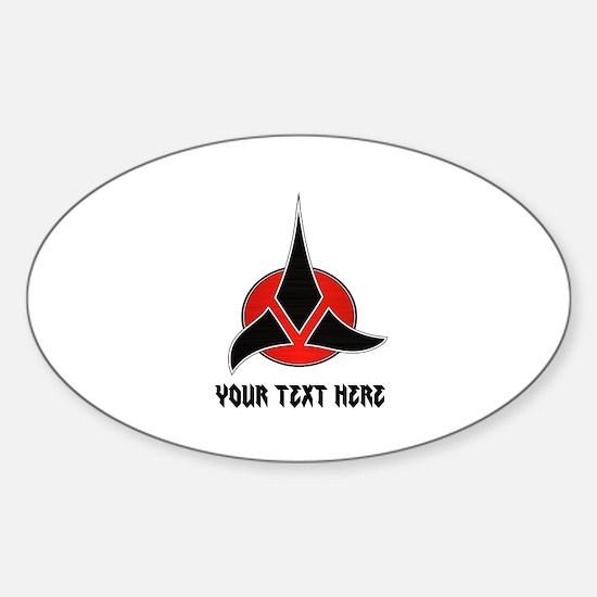 Klingon Symbol Personalized Sticker (Oval)
