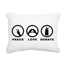 Debater Rectangular Canvas Pillow