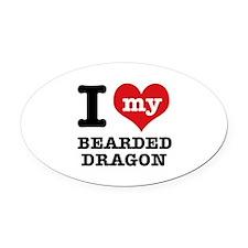 I love my Bearded Dragon Oval Car Magnet