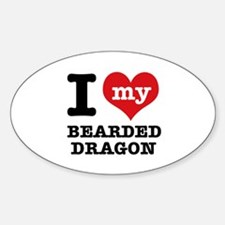 I love my Bearded Dragon Sticker (Oval)