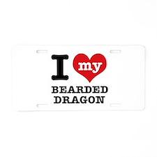 I love my Bearded Dragon Aluminum License Plate
