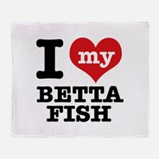 I love my Betta Fish Throw Blanket