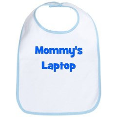 Mommy's Laptop blue Bib