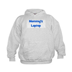Mommy's Laptop blue Hoodie