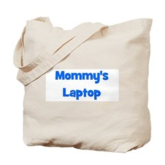 Mommy's Laptop blue Tote Bag
