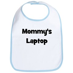 Mommy's Laptop black Bib